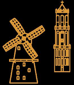 Utrecht City Illustrations Utrecht Yellow