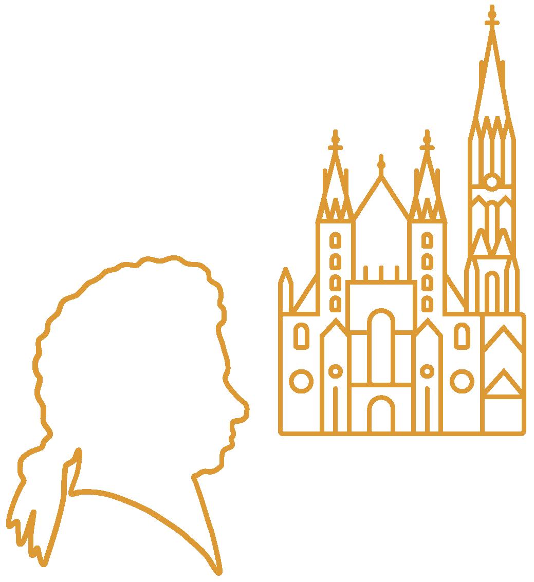 Wien Brigittenau City Illustrations Wien Yellow 1